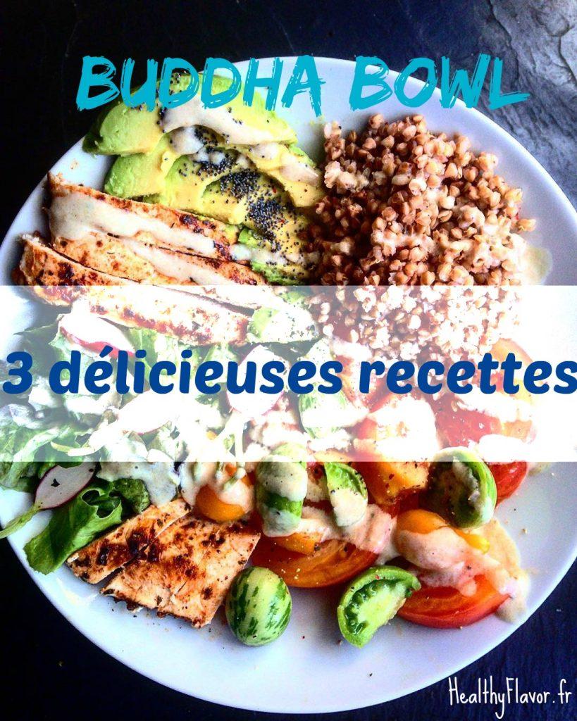 3 recettes buddha bowl